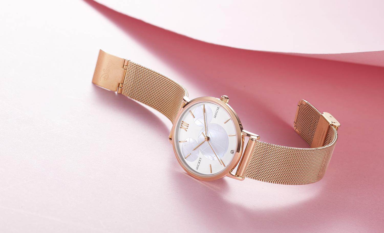 CE RoHs2.0มิกกี้ซับหน้าปัดนาฬิกาข้อมือหญิงกับญี่ปุ่น2035การเคลื่อนไหวควอตซ์
