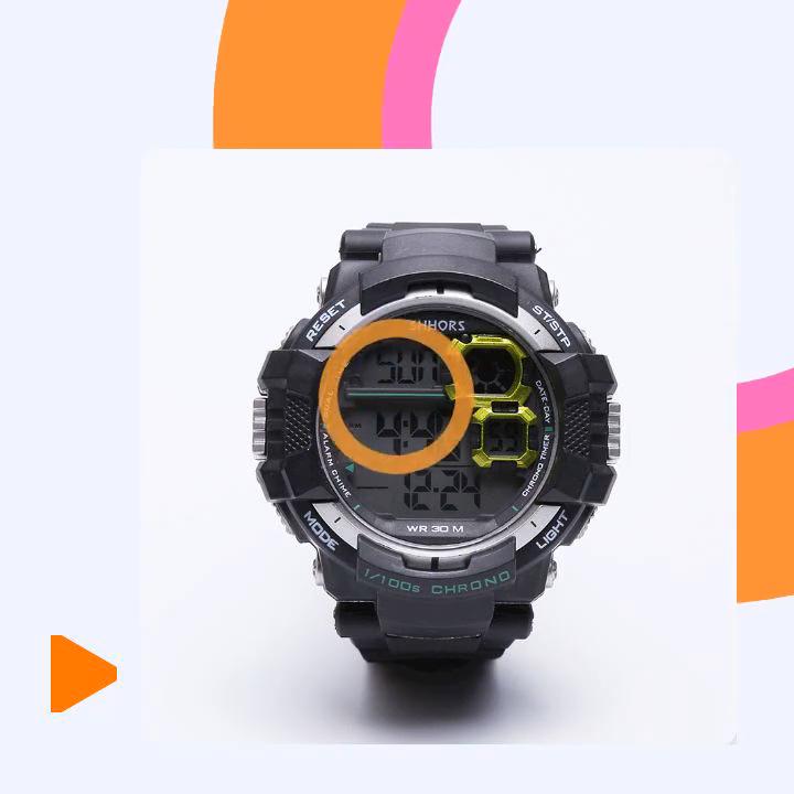 Shhors montre chronographe d'alarme 3ATM résistant à l'eau montre-bracelet montres numériques pour Sport OEM/ODM 813