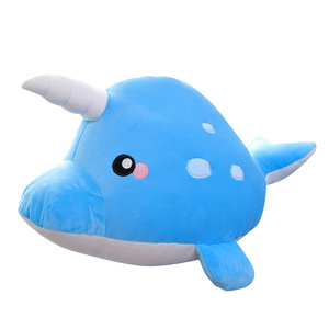 Hot Sale Sea Animal Shark Narwhal Dolphin Plush Toy