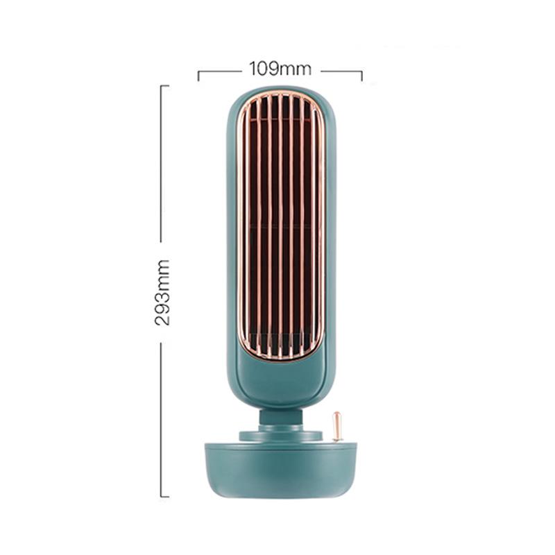 JMK Smart 2020 New Product Ideas Arrivals Retro Tower Decoration 220Ml Usb Mini Desktop Water 2 In 1 Humidifier Cooling Fan