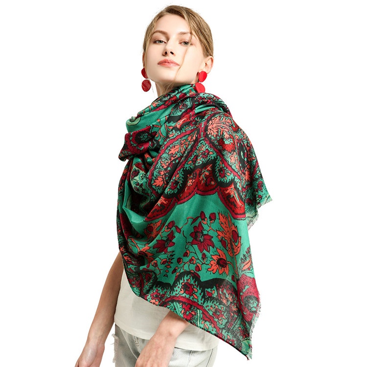 Wholesale Winter Tassel Plain Wool Soft Viscose Shawl Unisex <strong>Scarf</strong> <strong>Customized</strong> <strong>logo</strong>