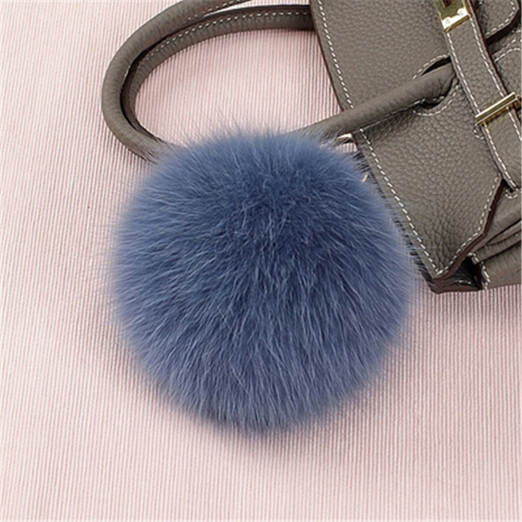 Full Genuine <strong>Fox</strong> faux <strong>Fur</strong> Pompom <strong>Ball</strong> <strong>Keychain</strong> For bag