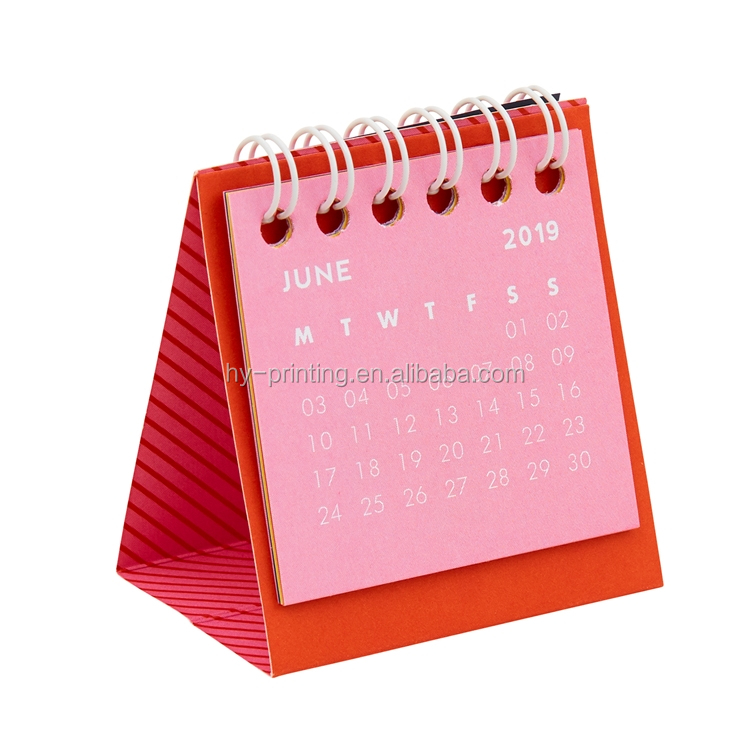 Good quality custom standing desk table calendar design