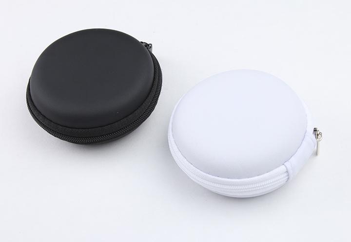 Custom EVA Headphone Headset Earphone Pouch, PU Leather EVA Earbud Case