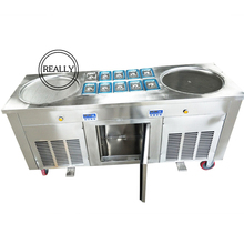 Hoge Efficiency fry ijs roll machine bakken ijs roll maker CE certificering