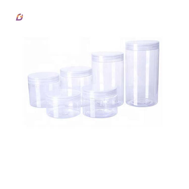 W001 Plastic food wide mouth pet jar 100ml 200ml 300ml 500ml
