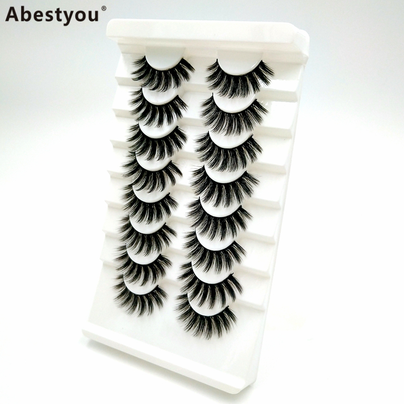 Abestyou Wholesale Mink Eyelashes Vendor Luxury 3D Mink Eyelashes With Custom Packaging