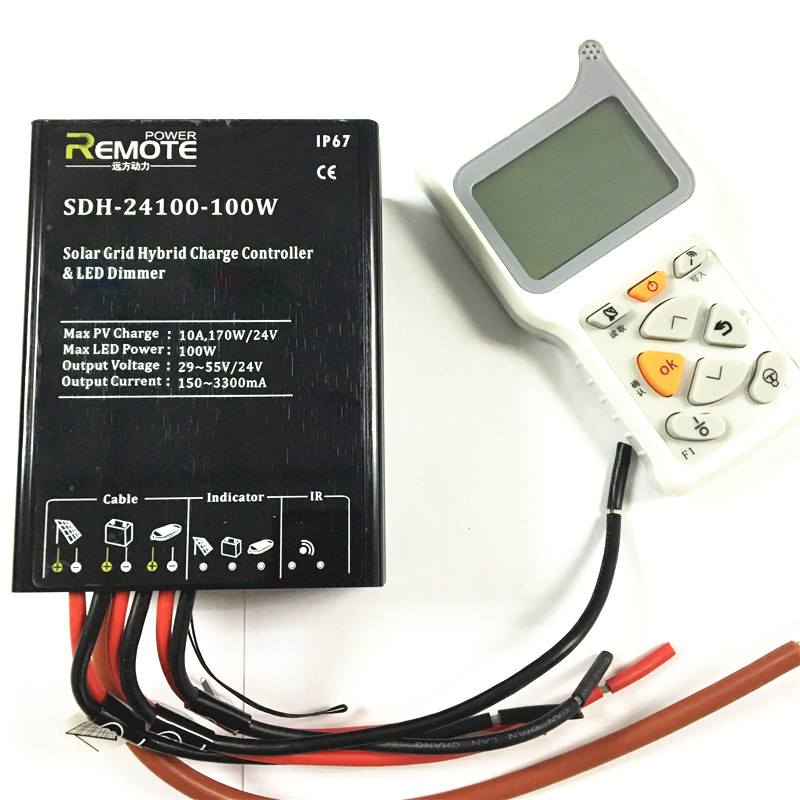 12V 24V Auto Cerdas Tahan Air IP67 Remote Control Solar Charger Controller untuk Solar Lighting