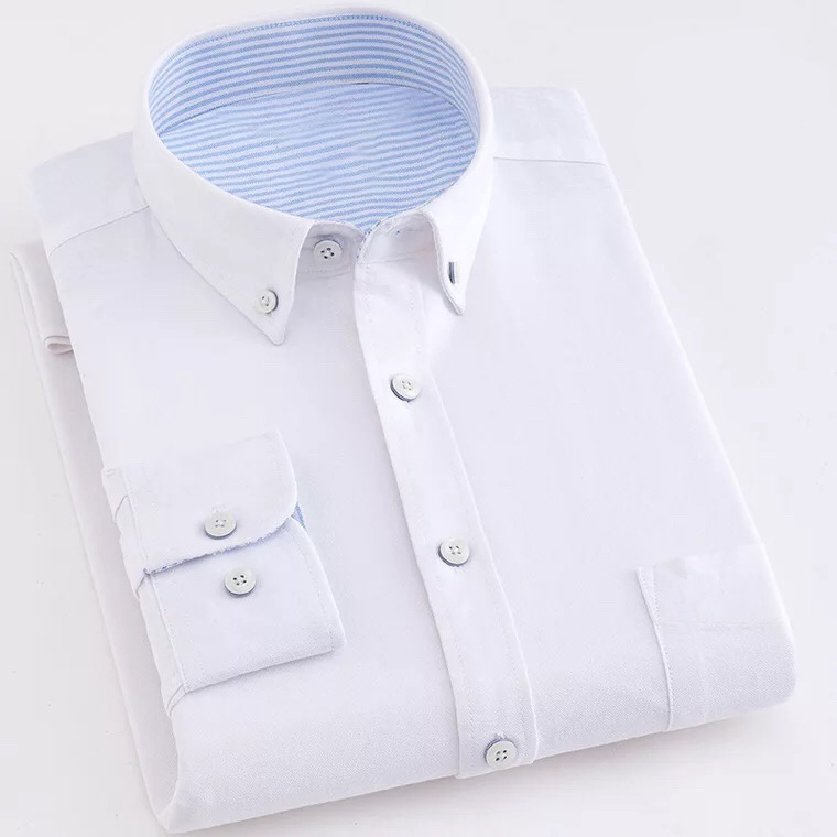 wholesale latest design 100% cotton long sleeve formal dress shirt custom slim fit casual shirt for men