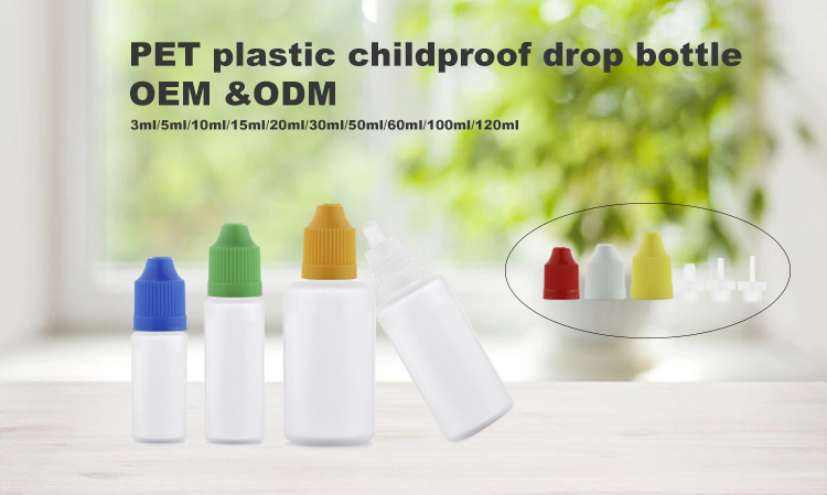 Child safty tamper evident dropper bottles unique for eliquid e juice 5ml