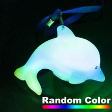 СВЕТОДИОДНЫЙ Брелок в виде животного, случайный цвет, светильник, Рождественская лампа, ожерелье, светящаяся гирлянда, сувениры, украшение ...(Китай)