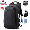 new custom fashion men usb backpack with charger business laptop travelling waterproof anti theft bag laptop backpack