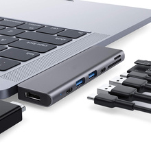 USB C hub adaptörü, 7-in-2 USB c Tipi 4K 60Hz multiport Adaptörü ile Uyumlu MacBook Pro 2019/ 2018/2017/2016, macBook Air 2019