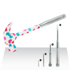 Hammer With Hammers Mini Steel 6 In 1 Floral Printed Multi Purpose Claw Hammer With Screwdrivers 6 In 1 Claw New Hammers
