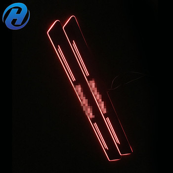 New design auto outside threshold car door sill plate, led door sill scuff plate