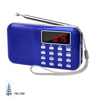 Mini Digital AM FM Radio Media Speaker MP3 Music Player Support TF Card USB Disk with Emergency Flashlight