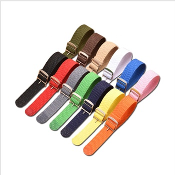 18mm 20mm 22mm Nylon Watch Band Stainless Steel Watch Buckle Nato Perlon Watch Strap