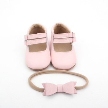 BEIEBIENOYA Pink Strap Baptism Baby Shoes Genuine Leather Shoes Size 2-13 Soft Breathable Ceremony Baby Shoes