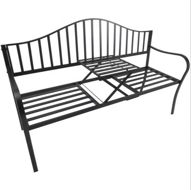 Fantastic Strength and Stability Metal Outdoor Indoor Bench W/Table