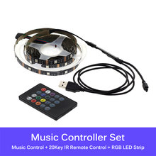 RGB сменная USB Светодиодная лента 5050 DIY гибкий светодиодный светильник управление Bluetooth/управление музыкой светодиодный ТВ фоновый светильни...(Китай)