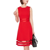 summer new dress ladies red sleeveless fashion design sexy woman bodycon evening dresses plus size women clothing
