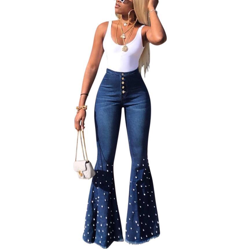 Pantalones Vaqueros Acampanados Para Mujer Ropa Vintage Para Mujer Pantalones Elasticos De Cintura Alta Y11956 Buy Denim Jeans Damas Jeans Pantalones Vaqueros Pantalones Product On Alibaba Com