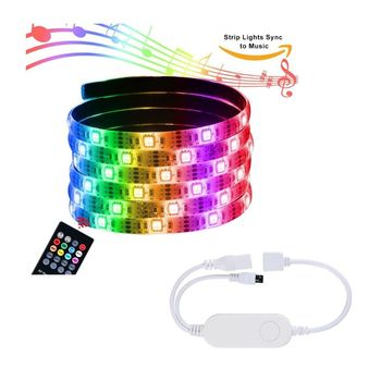 SMart LED lighting SMD 5050 LED Rope Lights Color Changing with IR Remote Controller LED Lighting Strips for Kitchen Christmas