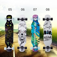 "Custom high quality longboard skateboard PU wheel 42"" longboard 9 layers maple wood 42*09inch"