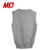 100% Cotton Grey Sweater V-neck Vest for Boys Cable Knitted Sweater School Uniform