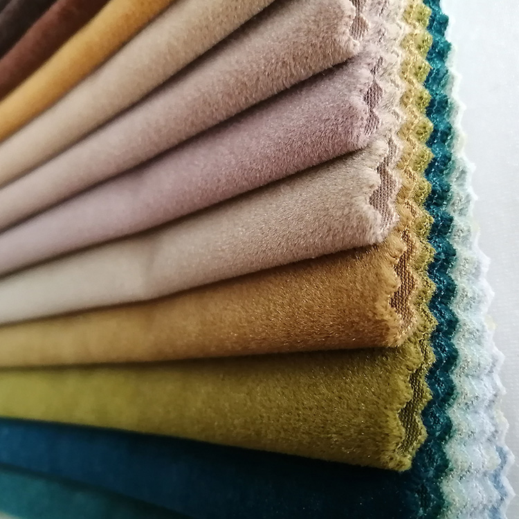 free sample Knitted Polyester Holland Plush Velvet Fabric For Upholstery