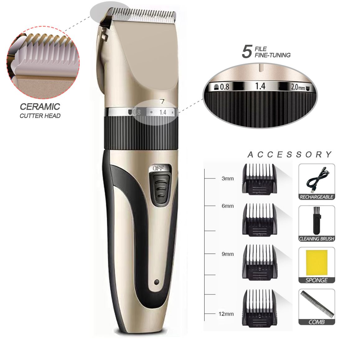 Corded Split End Motor Dubai Removal Dingling Nose Manual Hair Trimmer
