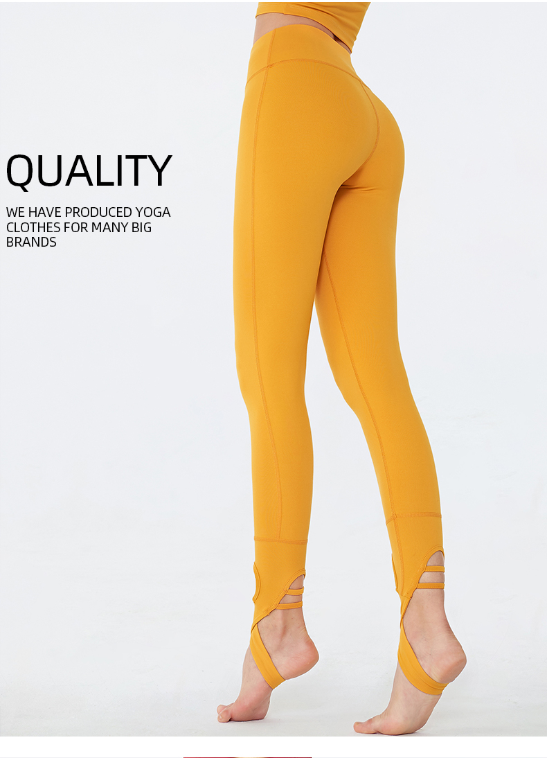 Breathable quick drying high waist shows thin buttock lifting  gym fitness yoga pants