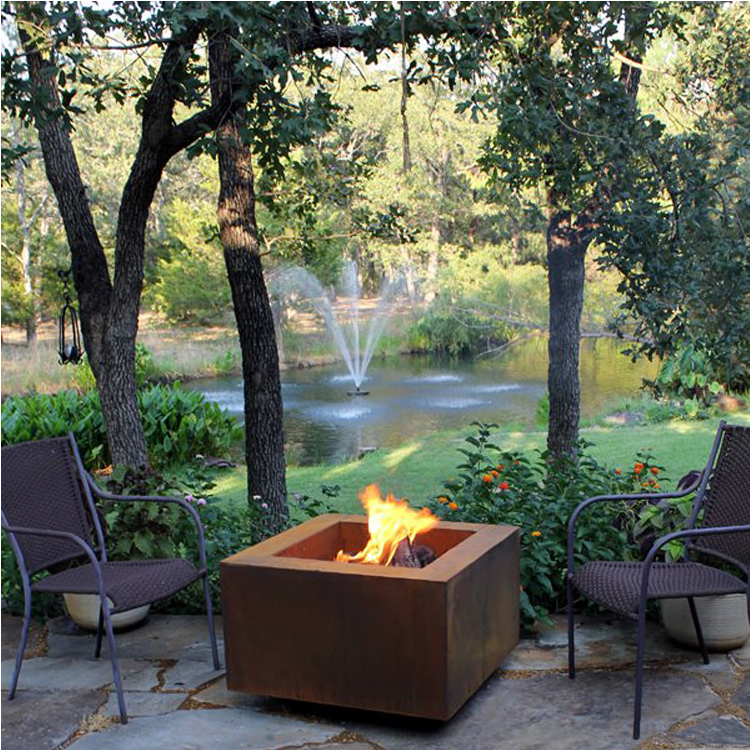 Cheap price corten steel outdoor metal covered fire pit