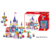 101PCS Fairy tale house best educational giant plastic building blocks for toddlers