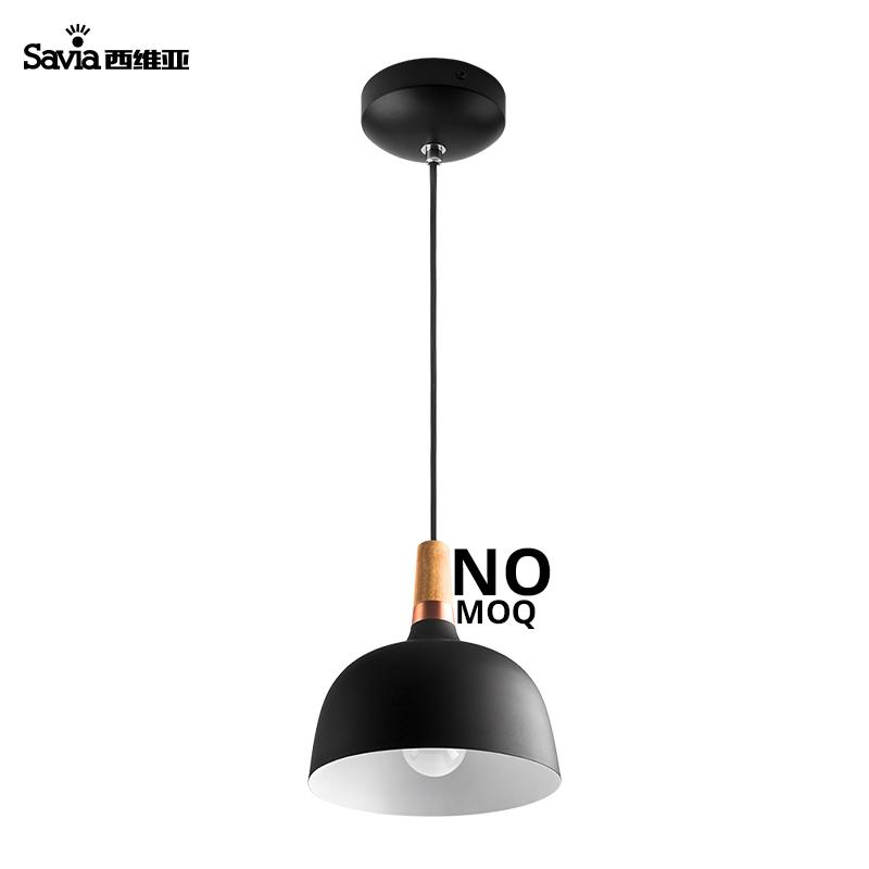 LED E27 kitchen island dining room black modern single ceiling hanging lamp fixtures suspended chandelier pendant light
