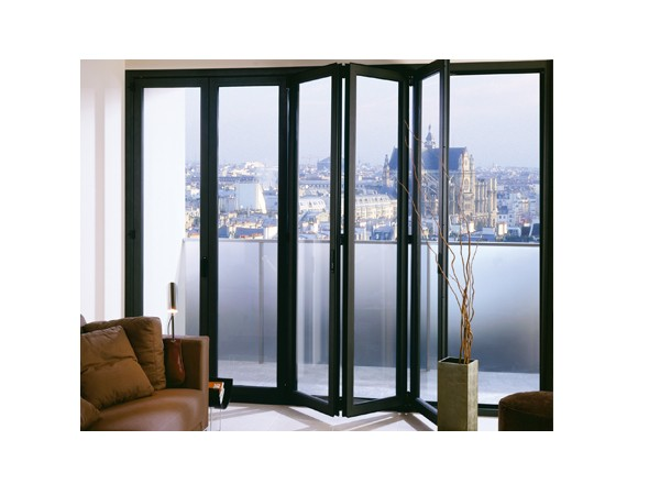 product-Powder Coating Aluminum Tempered Glazed Exterior Foldable Door Glass Folding Doors-Zhongtai--1