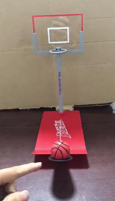 Mini brinquedo de alívio do estresse, dobrável para escritório, mesa de basquete