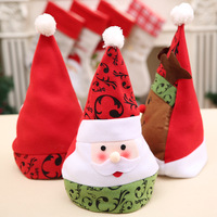 Factory High quality Cheap Snowman Santa Claus Hat Kids Min Christmas Hat with Light