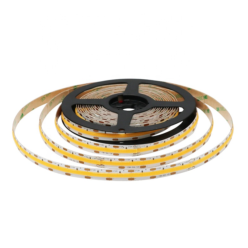 wholesale factory price 180 degree viewing 378 LED/M DC24V led strip Light cob fob fcob flexible led strip