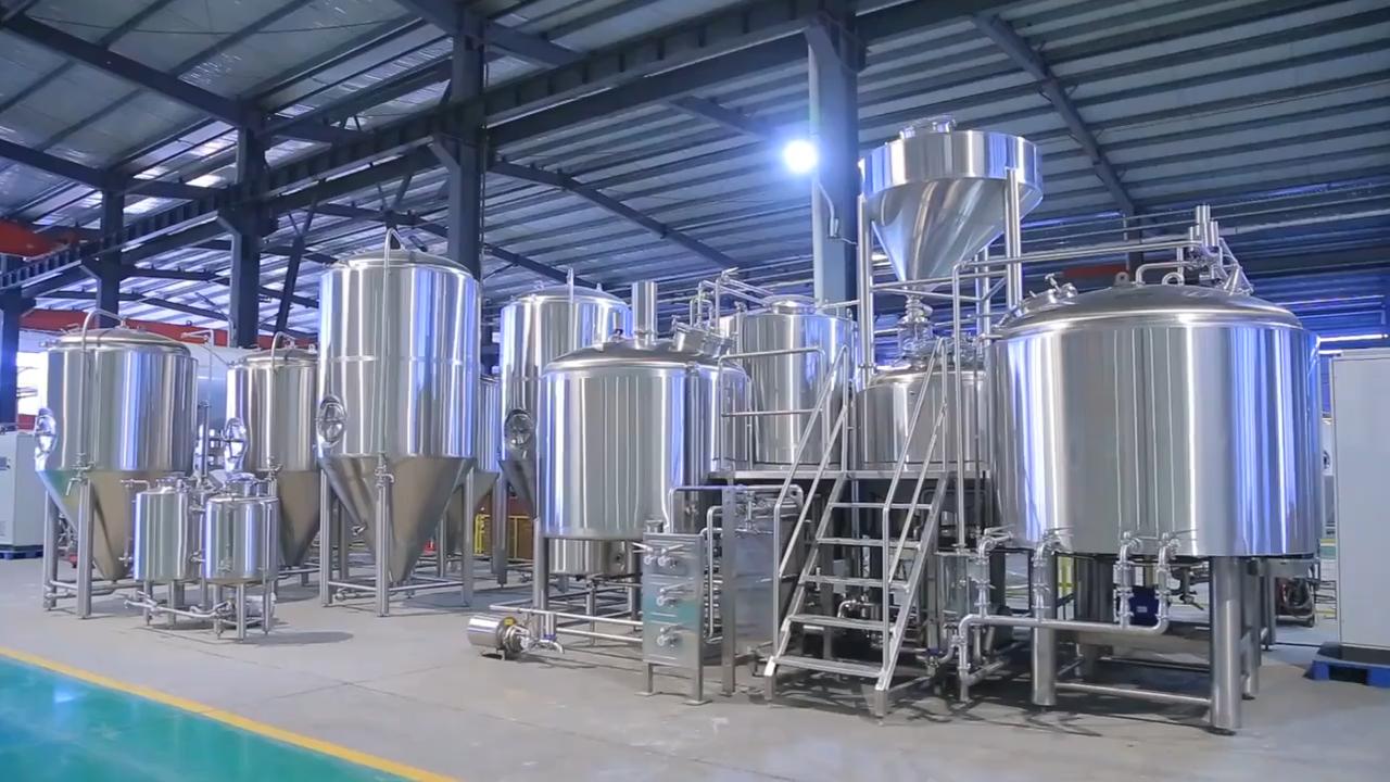 200L, 500L, 1000L Micro brasserie de brassage de bière pour bar clé en main usine de brasserie de bière de microbrasserie lagern équipement de bière
