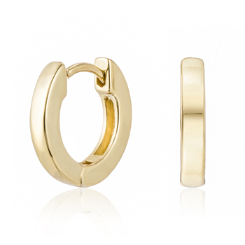 Custom fashion 18k gold 925 sterling silver minimal huggie hoop gold plated studs fine trendy jewelry clip on earrings for women