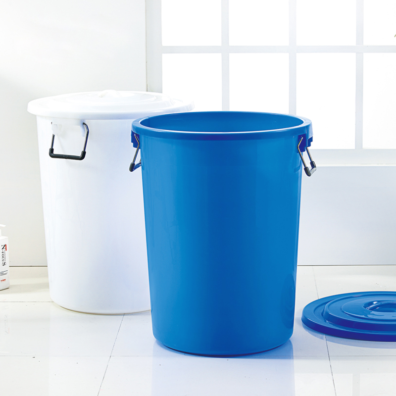 60L 100l 160l custom large plastic bucket with lid with handle