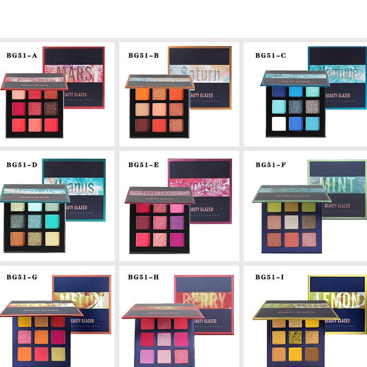 Professionelle Private Label Großhandel Lidschatten Sets/Make-Up Glänzende Matte Schönheit Make-Up Set 9 Farben Natürliche Lidschatten-palette