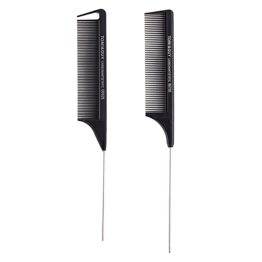 Wholesale Fine Tooth Hairdressing Heat Resistant Professional Carbon Fibre Plastic Rat Tail Parting <strong>Comb</strong> For Women