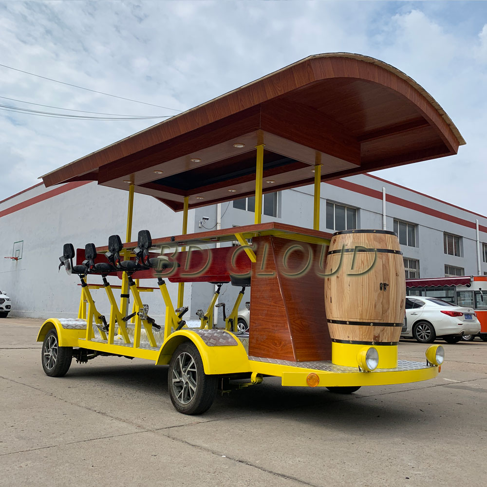 Hot sale four wheel electric design beer bike / beer <strong>bicycle</strong> / beer truck
