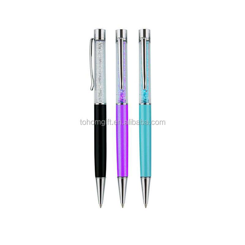 Nieuwe producten heavy metal & plastic balpen met custom logo gepersonaliseerde crystal stylus ball pen touch screen voor promotionele