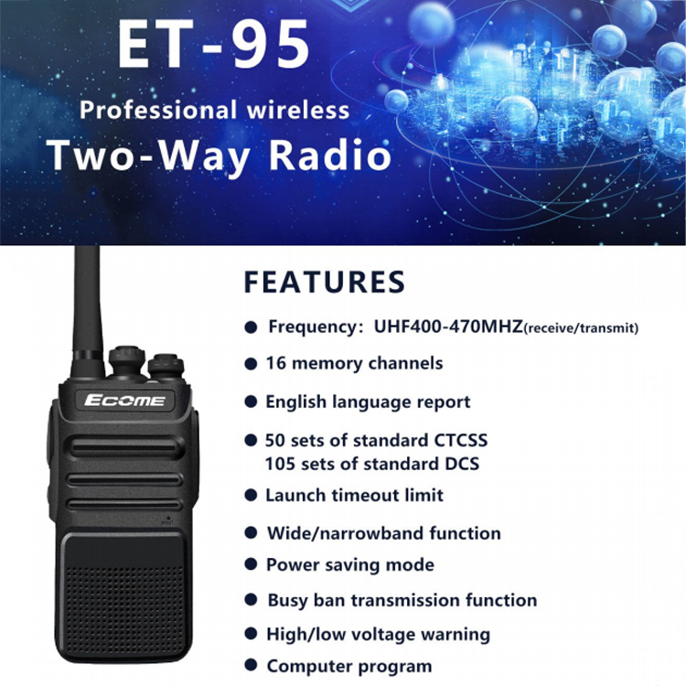 5km Walkie Talkie 5 Watts UHF Best Long Range Wireless Two Way Radio