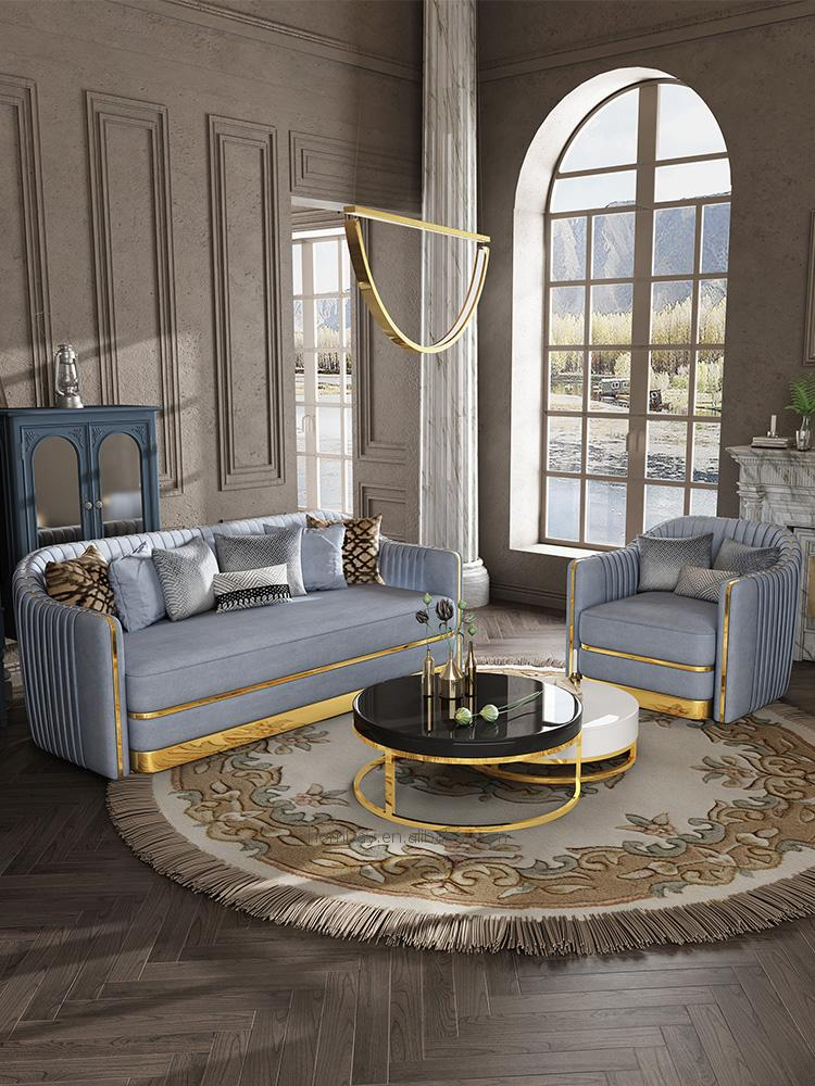 リビングルームのソファセットデザイン家具