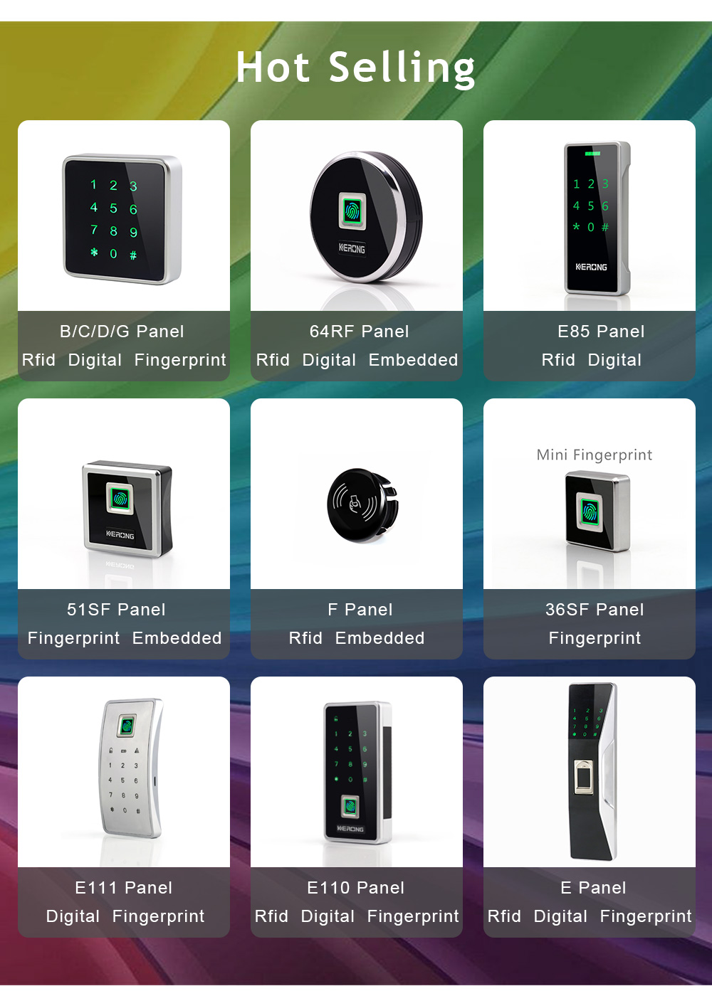 KERONG Best Brand Digital Number Card Locks for Office Cabinet
