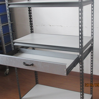 New! Grey Powder Coating Light Duty Storage Boltless Rivet Rack/Shelf with Movable Drawer